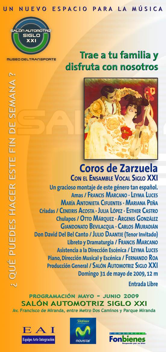 Invitación Coros de Zarzuela