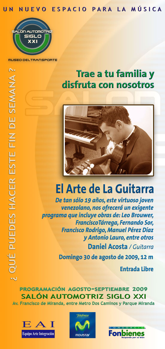 Invitación el Arte de la Guitarra