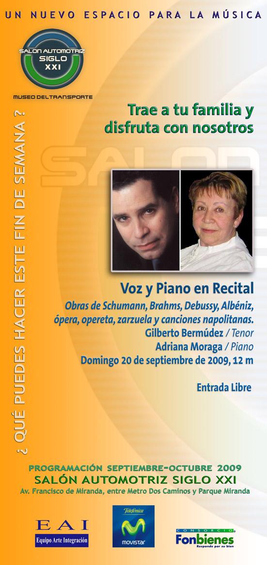 Invitación Voz y piano