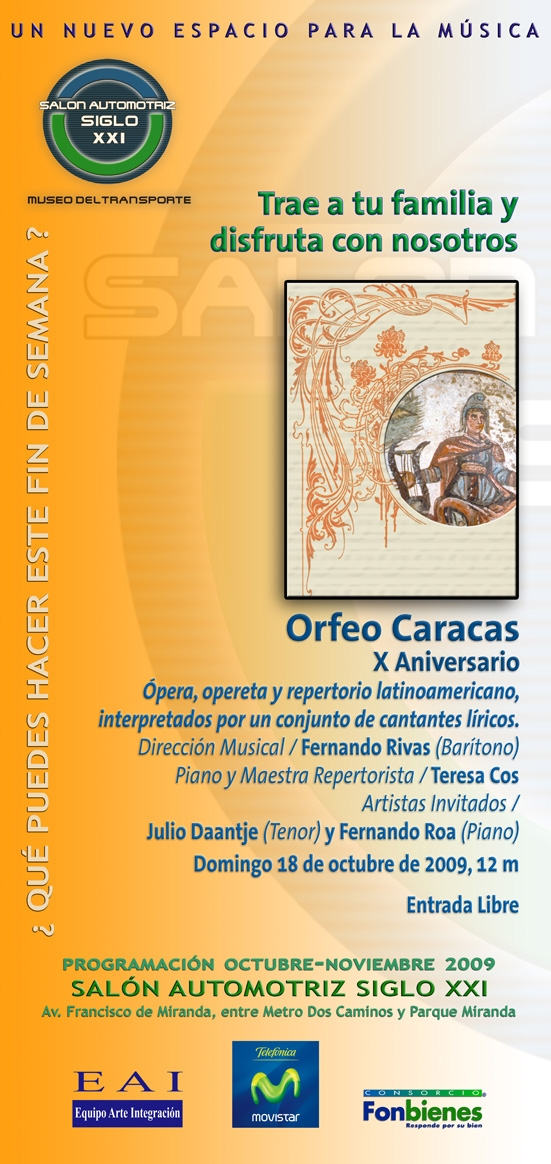 Invitación Orfeo Caracas