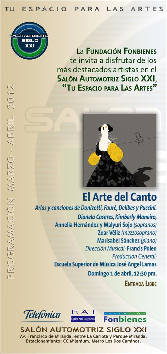 El Arte Del Canto En El Sal N Automotriz Siglo Xxi