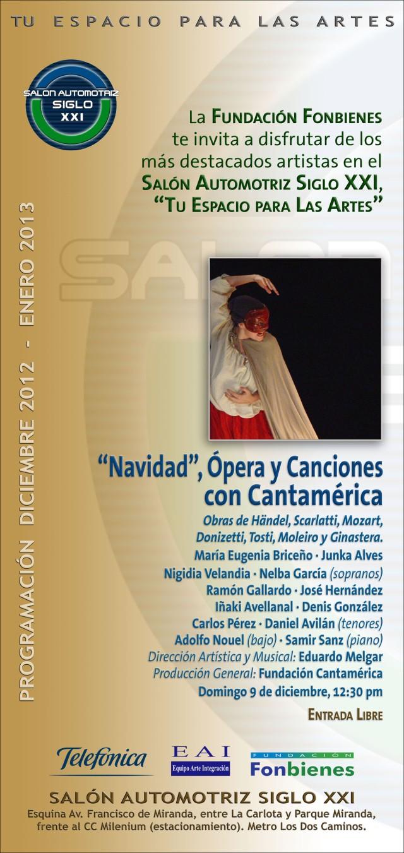 Invitacion Navidad Opera y Canciones