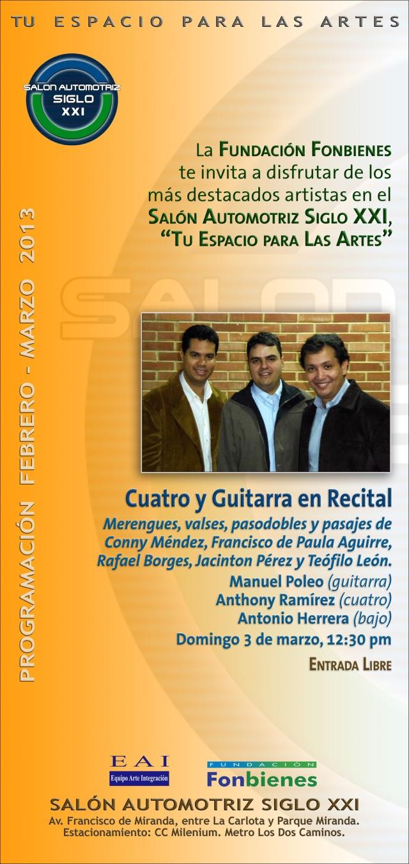 Invitacion Cuatro y Guitarra en Recital