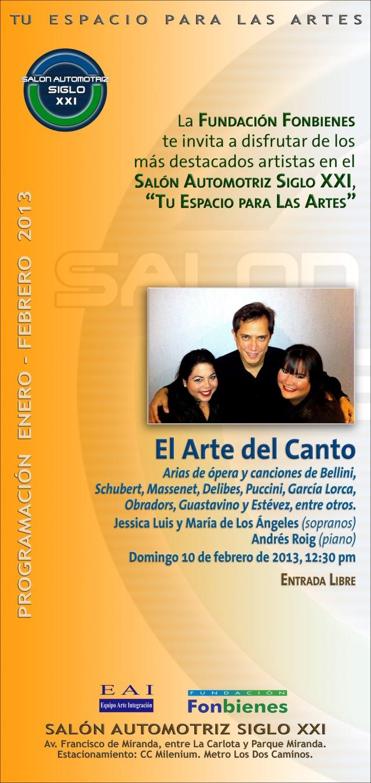 Invitacion El Arte del Canto