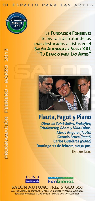 Invitacion Flauta, Fagot y Piano en el SASXXI