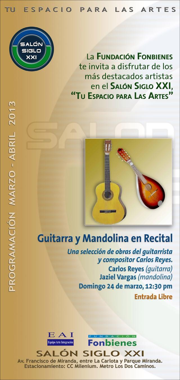Invitacion Guitarra y Mandolina en Recital