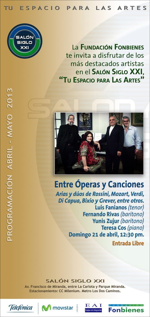 Invitacion Entre Operas y Canciones