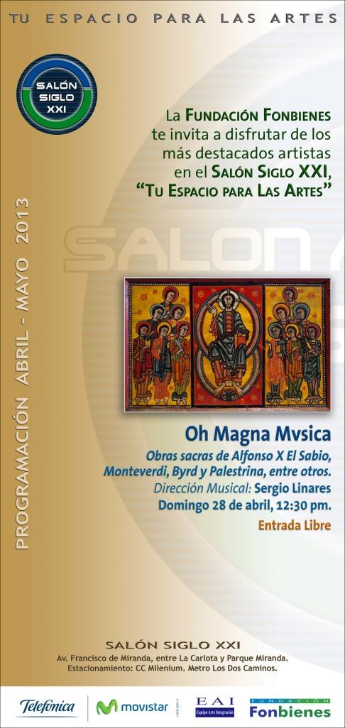 Invitacion Oh Magna Mvsica