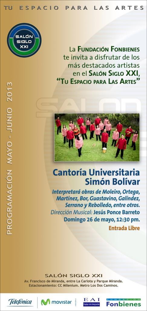 Invitacion Cantoria Univ Simon Bolivar 2013