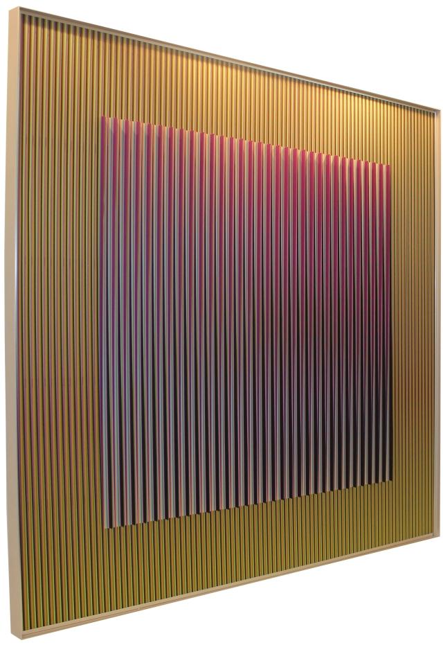 Carlos Cruz Diez, Physichromie 1677, Paris 2010, 100 x 100 cm