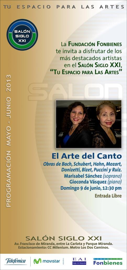 Invitación El Arte del Canto 2013