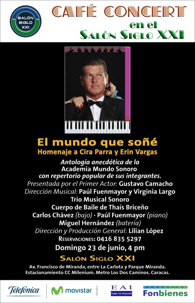 Invitación El mundo que soñé en Café Concert