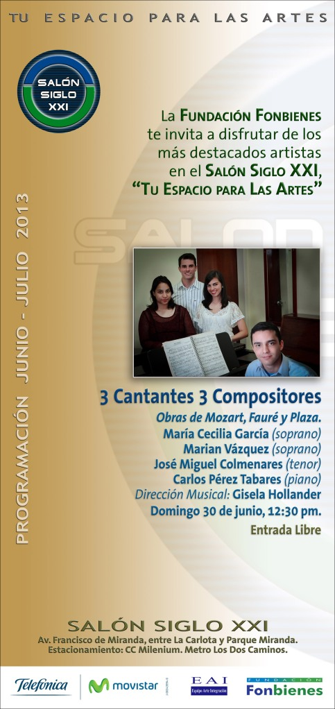 Invitacion 3 Cantantes 3 Compositores
