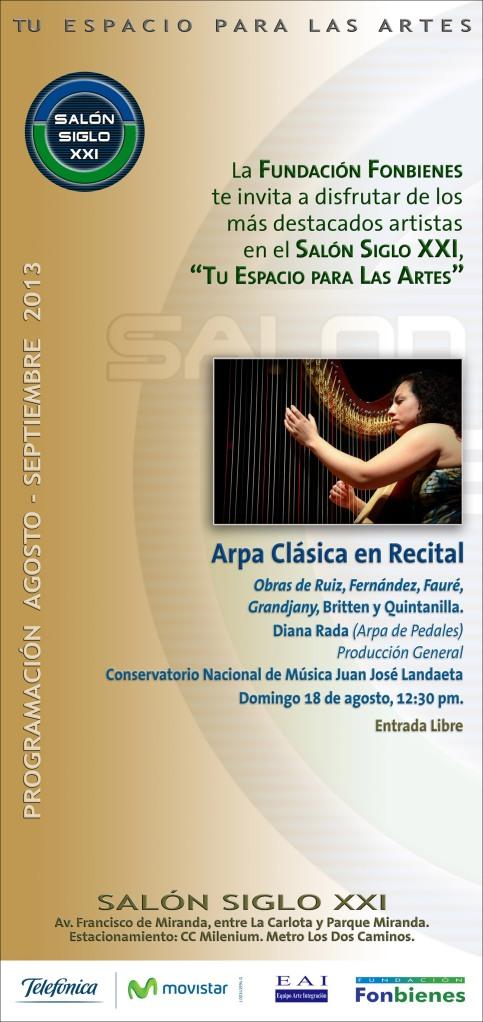 Invitacion Arpa Clasica en el Salon Siglo XXI