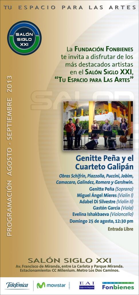 Invitacion Genitte Pena y Cuarteto Galipan en SASXXI