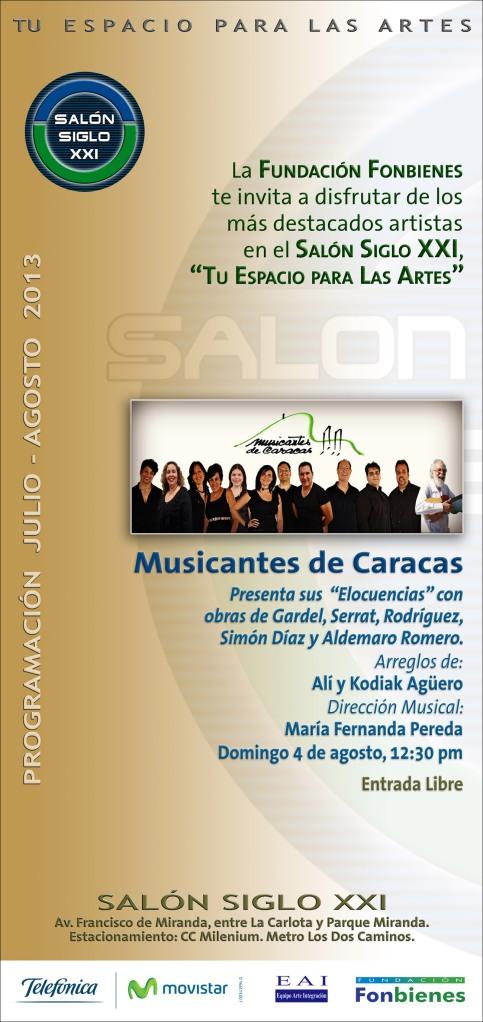 Invitacion Musicantes de Caracas en el Salon Siglo XXI