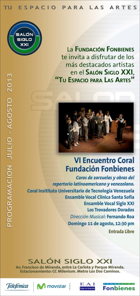 Invitacion VI Encuentro Coral Fundacion Fonbienes