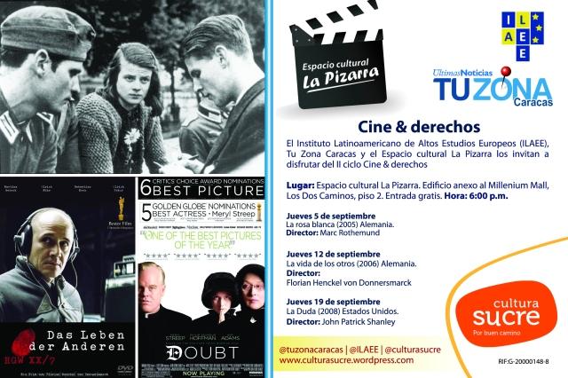 Volante de Cine en La Pizarra Cine y derechos copia copy
