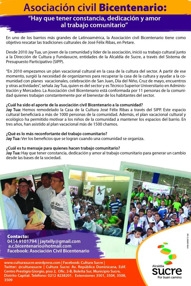 Boletín asociacion civil Bicentenario original