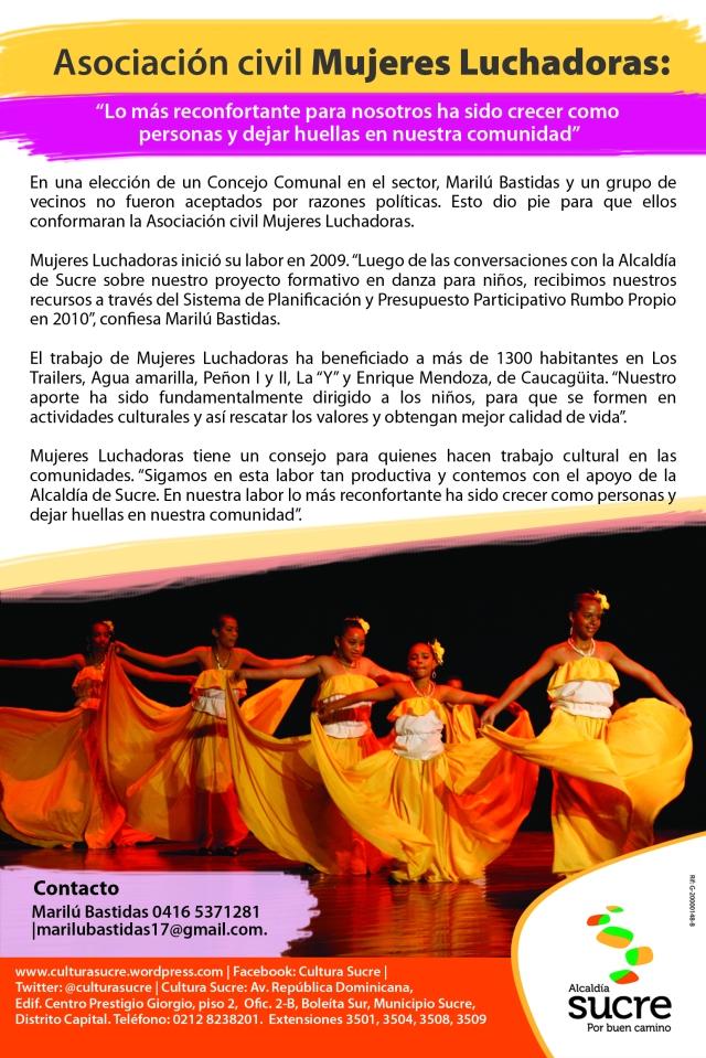 Boletín asociacion civil Mujeres Luchadoras original