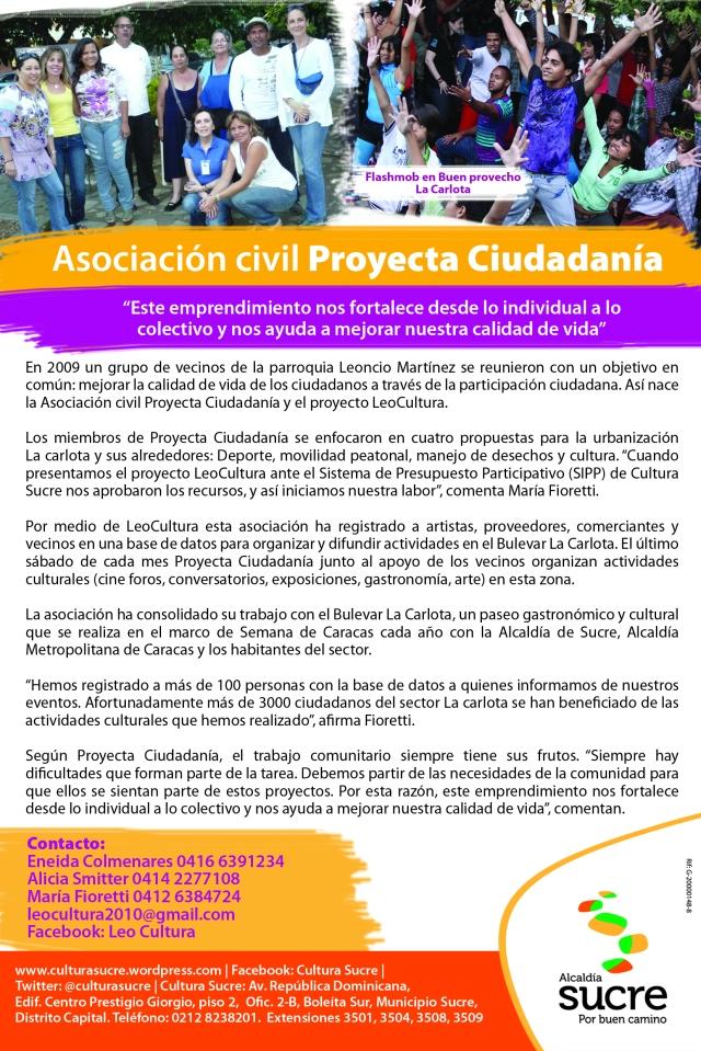 Boletín asociacion civil Proyecta Ciudadanía original