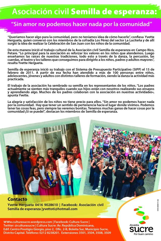 Boletín asociacion civil Semillitas de la Esperanza original
