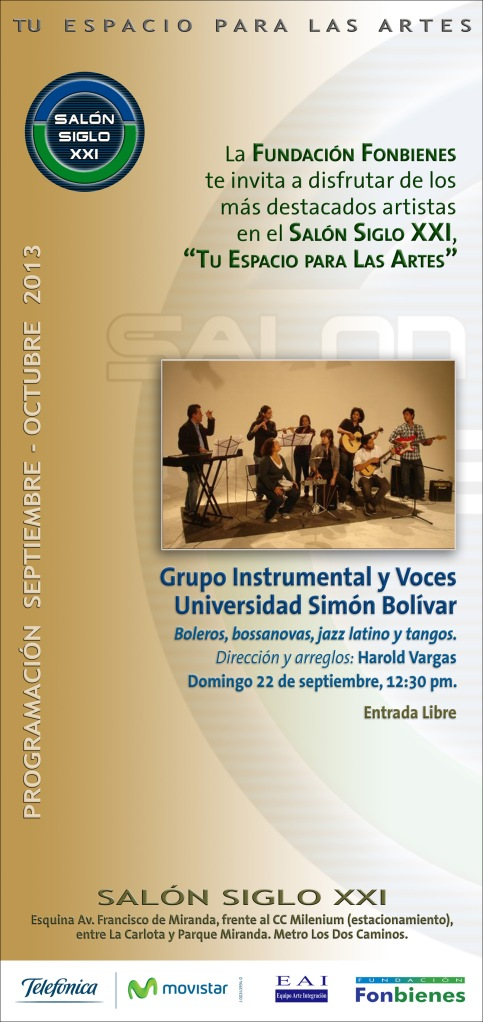 Invitacion Grupo Instrumental y Voces Universidad Simon Bolivar