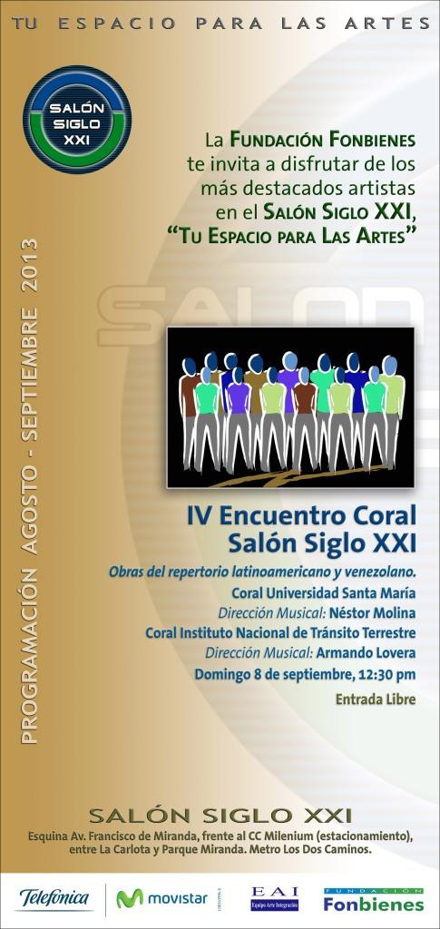 Invitacion IV Encuentro Coral Salon Siglo XXI