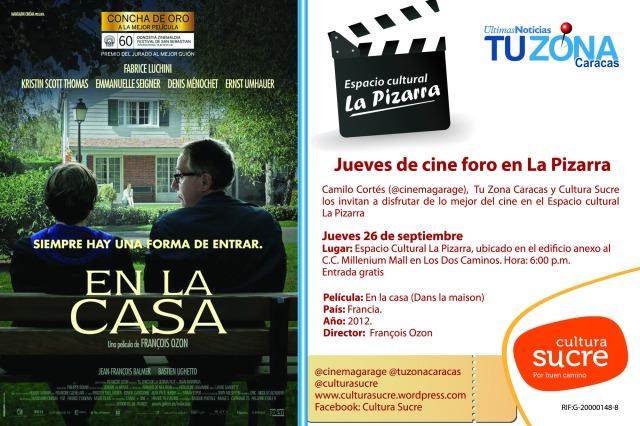 Volante de Cine en La Pizarra_En la Casa