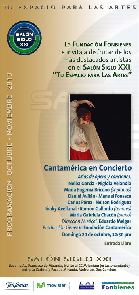 Invitacion Cantamerica en Concierto