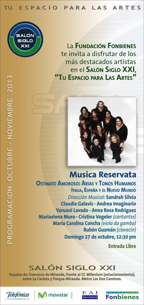 Invitacion Musica Reservata en el SASXXI