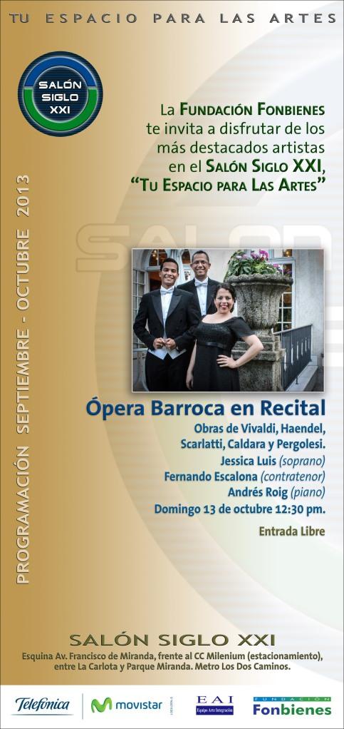Invitacion Opera Barroca en Recital