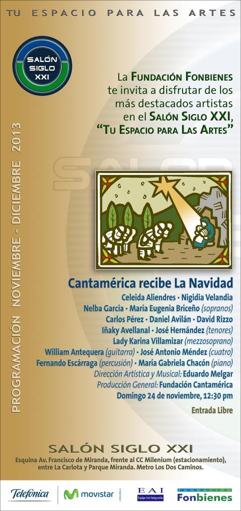 Invitacion Cantamerica recibe La Navidad(1)