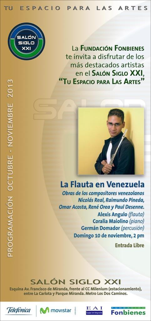 Invitacion La Flauta en Venezuela en el SASXXI