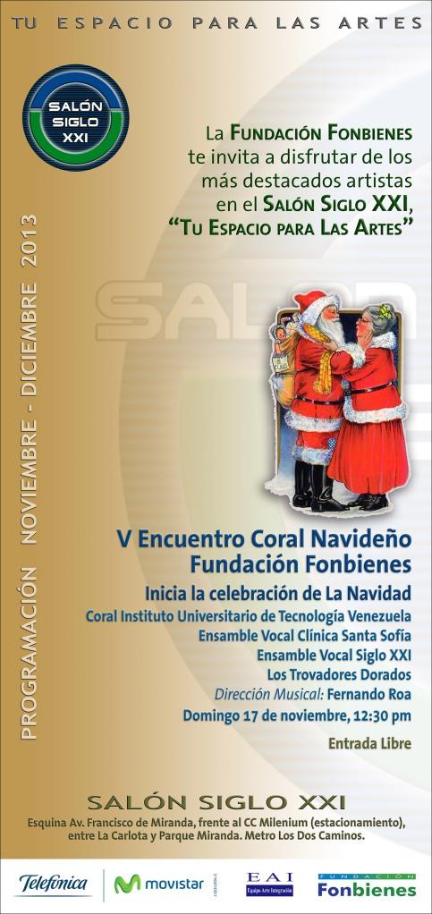 Invitacion V Encuentro Coral Navideno en el SASXXI