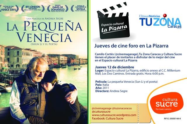 Jueves de cine foro en La Pizarra 12dic copy