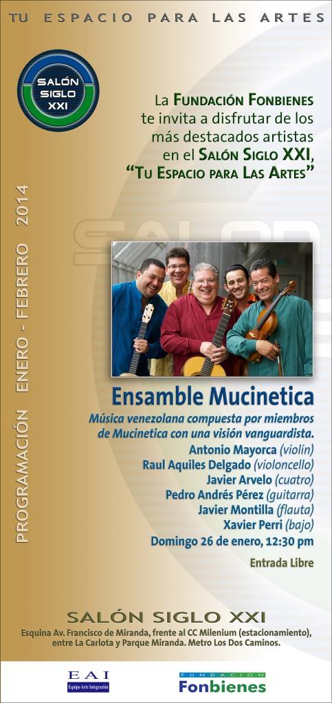 Invitacion Ensamble Mucinetica en el SASXXI