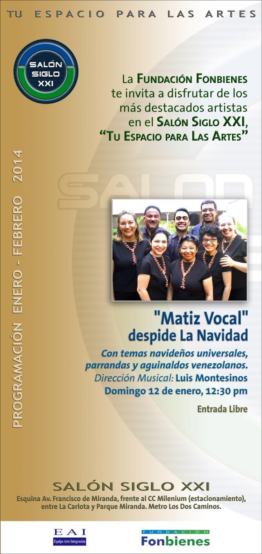 Invitacion Matiz Vocal despide La Navidad
