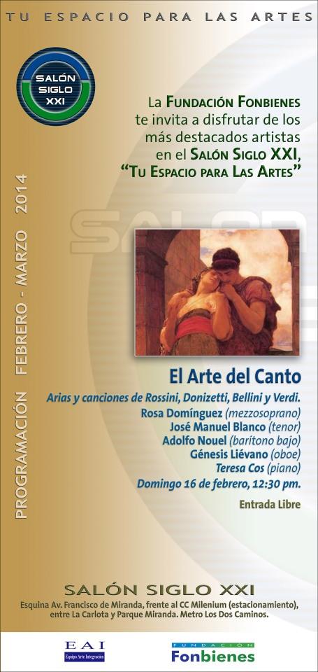 Invitacion El Arte del Canto en el SASXXI
