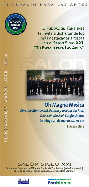 Invitacion Oh Magna Mvsica en el SASXXI