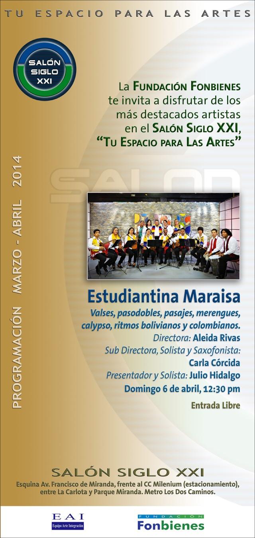 Invitación Estudiantina Maraisa