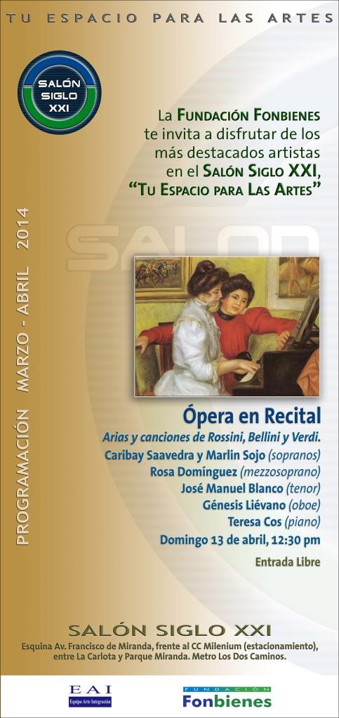 Invitacion Opera en Recital