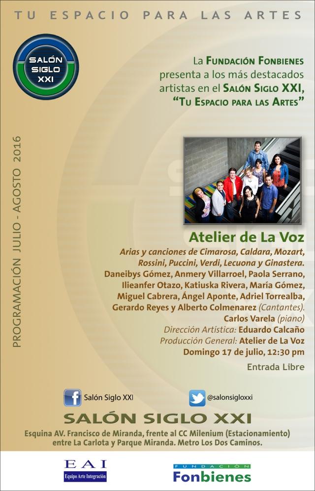 Invitación Atelier de La Voz